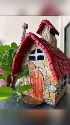 Cardboard Houses, Cardboard Crafts, Clay Crafts, Paper Crafts, Fairy House Crafts, Fairy Garden Houses, Garden Crafts, Diy Crafts For Home Decor, Diy Crafts Hacks