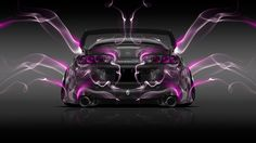 Toyota Supra JDM Back Pink Smoke Car 2014