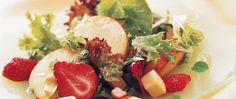 What a beautiful and inviting salad boasting colorful fruit and greens!  Best of all, YOU can make it--it's easy!