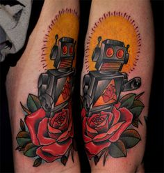 robot in rose