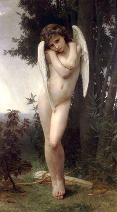 William Adolphe Bouguereau (William Bouguereau): L'Amour Mouille