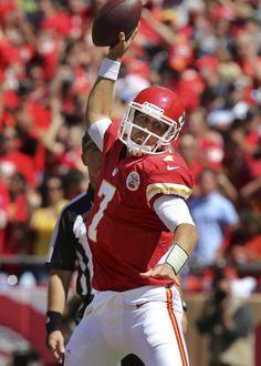 Kansas City Chiefs quarterback Matt Cassel celebrates his touchdown. Week 1 2012 season