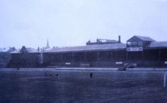The old main stand at IBROX with the pavilion at the Copland road end