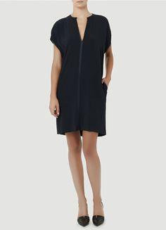 Vince split neck dress - I love Vince's effortless style