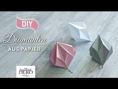 DIY: hübsche Papier-Diamanten selber machen [How to] Deko Kitchen - YouTube
