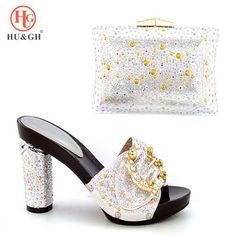 Women Shoes And Bag Set With Rhinestones Pumps Italian b851236c43ec