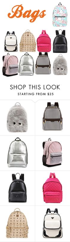 """""""Bags"""" by another-one2 ❤ liked on Polyvore featuring Anya Hindmarch, Henri Bendel, 3.1 Phillip Lim, Victoria's Secret, Balenciaga, Moschino, MCM and Nintendo"""