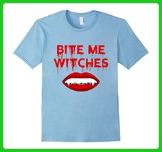 Mens Bite Me Witches Halloween T shirts, Vampire Teeth T shirts Medium Baby Blue - Fantasy sci fi shirts (*Amazon Partner-Link)