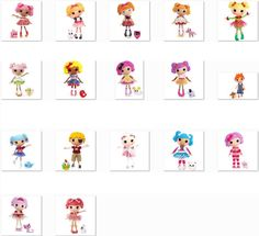 LaLaLoopsy Clip Art Set Lot of 18 - It's Free! : ScrapPNG, Transparent PNG Graphics