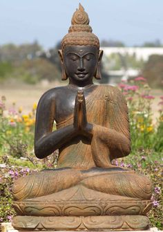 Buddha in a garden Buddha Zen, Gautama Buddha, Buddha Buddhism, Buddhist Art, Buddha Peace, Dalai Lama, Serenity, Buddhist Philosophy, Taoism