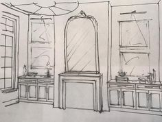 "79 Likes, 2 Comments - Feasby & Bleeks Design (@feasbyandbleeksdesign) on Instagram: ""Re-envisioning the family room at #projectwhiteoak the old fashioned way ✏️ #sketching #byhand…"""