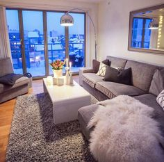 Beautiful creative gray living room