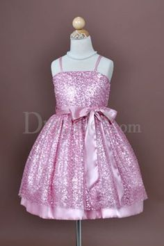 Cute Princess Flower Girl Dress with Shinning Sequins