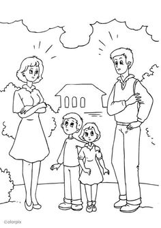 Coloring Page divorce Free Coloring Sheets, Coloring Pages, Teaching Materials, Figure Drawing, Divorce, Paper Crafts, Comics, Drawings, Prints