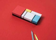 Plakken, kladden en schetsen met Mondriaan Sticky Notes van PA Design uit Parijs!