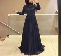 Stony and bright hijab . Engaged in stony and bright hijab. Hijab Prom Dress, Hijab Gown, Hijab Evening Dress, Hijab Style Dress, Evening Dresses, Beautiful Prom Dresses, Beautiful Hijab, Abaya Fashion, Muslim Fashion
