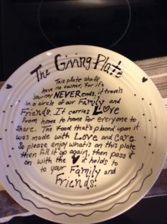 Thrift store plate and a sharpie!!!!!