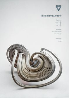 Math:Rules - Strange Attractors by Chaotic Atmospheres , via Behance - The Sakarya Attractor