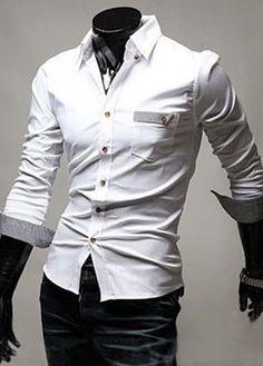 Laconic Style Cotton Turndown Collar Work Shirts – teeteecee - fashion in style