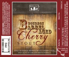 Malt Beverage brewed with Cherry Juice and Aged in Oak Bourbon Barrels.