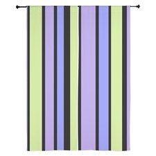 Long window curtains Purple green black stripes #cafepress #decor #home #trends