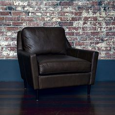 Versatile and comfortable in any office.  west elm leather chair #officedesign