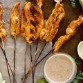 Chili Garlic & Lime Chicken Satay Skewers
