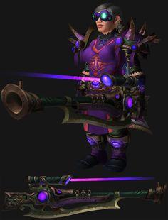 WoW Dwarf Female Beast Mastery Hunter Artifact Transmog.