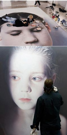 Gottfried Helnwein working