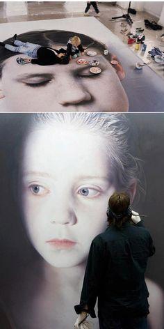 Gottfried Helnwein working