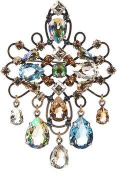 LANVIN Ginger crystal-embellished brooch