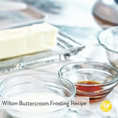 Learn how to make the perfect buttercream frosting! The traditional choice for flavor and versatility, this buttercream frosting recipe is soft and spreadable. It's perfect to use for icing cakes, piping borders, writing and making flowers. Wilton Buttercream Frosting, Cake Frosting Recipe, Buttercream Flower Cake, Frosting Recipes, Wilton Butter Cream Frosting Recipe, Buttercream Recipe For Piping, Buttercream Flowers Tutorial, Wilton Icing, Wilton Cakes