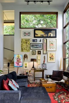 Modern architecture and with eclectic decor