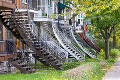 montreal stairs - Recherche Google Backyard Privacy, Of Montreal, Quebec City, Canada Travel, Garden Bridge, Photos, Stairs, Outdoor Structures, Places