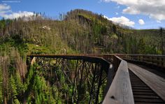 Construction of the Kettle Valley Railway and Trestles began in 1910 and were completed in 1914.