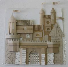 How to make a ginger house decor with recycled cardboard - Ohoh Deco Cardboard Sculpture, Cardboard Crafts, Paper Crafts, Craft Stick Crafts, Fun Crafts, Crafts For Kids, Origami Paper Art, Free To Use Images, Art Corner