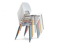 Traffic - Jídelní židle (lak červený matný, plast pískový) | OKAY.cz