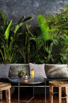 Excellent simple ideas for your inspiration Coffee Shop Design, Cafe Design, House Design, Jungle Room, Jungle House, Soho Hotel, Deco Restaurant, Decoration Inspiration, Restaurant Interior Design