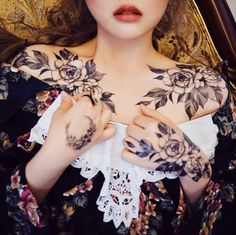 Florals tattoos by Zihwa