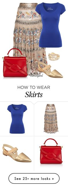 """""""Wow! A 27k skirt!"""" by burlsgurl on Polyvore featuring Etro, Jane Norman, Lulu Guinness, Marc Fisher and River Island"""