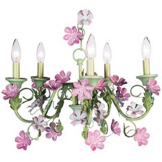Flora Green and Pink Chandelier from PoshTots - this would be so cute in Lily's room...