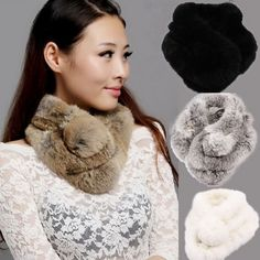 Knitted Rabbit Scarf With Ball 8 Colors