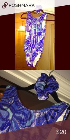 ❌SOLD❌Gymnastics Leotard With Head Piece Worn once in competition, perfect condition Snowflake Designs Other