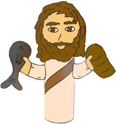jesus toilet paper tube crafts | Jesus Fish And Loaves Toilet Paper Roll Craft