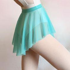 Aquamarine Mesh Ballet Sheer Dance Skirt SAB by RoyallDancewear
