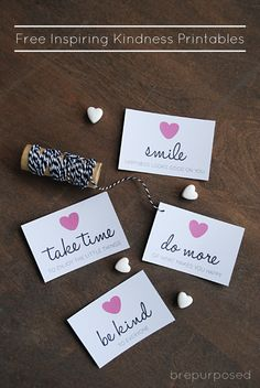 Free Inspiring Kindness Cards - Friday's Fab Freebie :: Week 39 - brepurposed