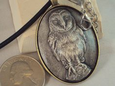 Stone Owl Necklace by MountainArtCasting on Etsy, $34.95