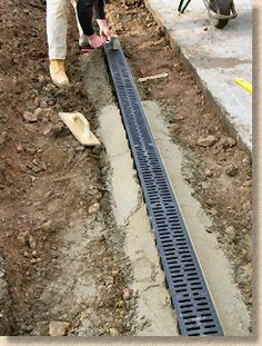 linear channel being laid