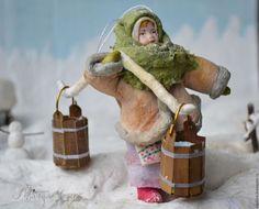 Новый год 2016 ручной работы. Ярмарка Мастеров - ручная работа. Купить Ватная елочная игрушка МАРФА НИКИТИЧНА. Handmade. вата