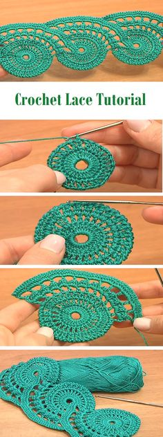 Pretty lace crochet.. thiny. Looks like you could easily increase the size if you wanted it larger for a scarf or something. It looks like... you just keep your circle making math in mind for the stitch count... then increase the center and the scallop'y edge by the same number.... *maybe* :D
